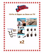 12-Brown Fix A Zippers 3 Sizes As Seen on TV USA SELLER FAST SHIPPING - $8.95