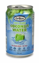 12 Cans Grace Coconut Water No Sugar Size 310ml Fast Ship From Canada - Fresh! - $64.99