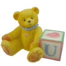 Cherished Teddies Bear with ABC Block Resin Teddy Bear Miniature Block 1... - $5.40