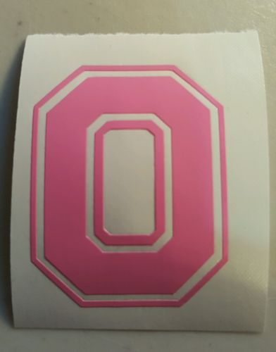 Primary image for PINK Ohio State Buckeyes Block O 5 inch decal sticker osu bucks window