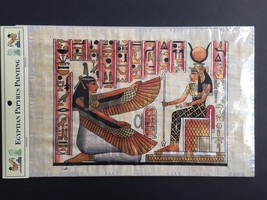 Hand Painted Egyptian Art on Papyrus Paper Ancient Egypt Painting Ma'at ... - $9.95