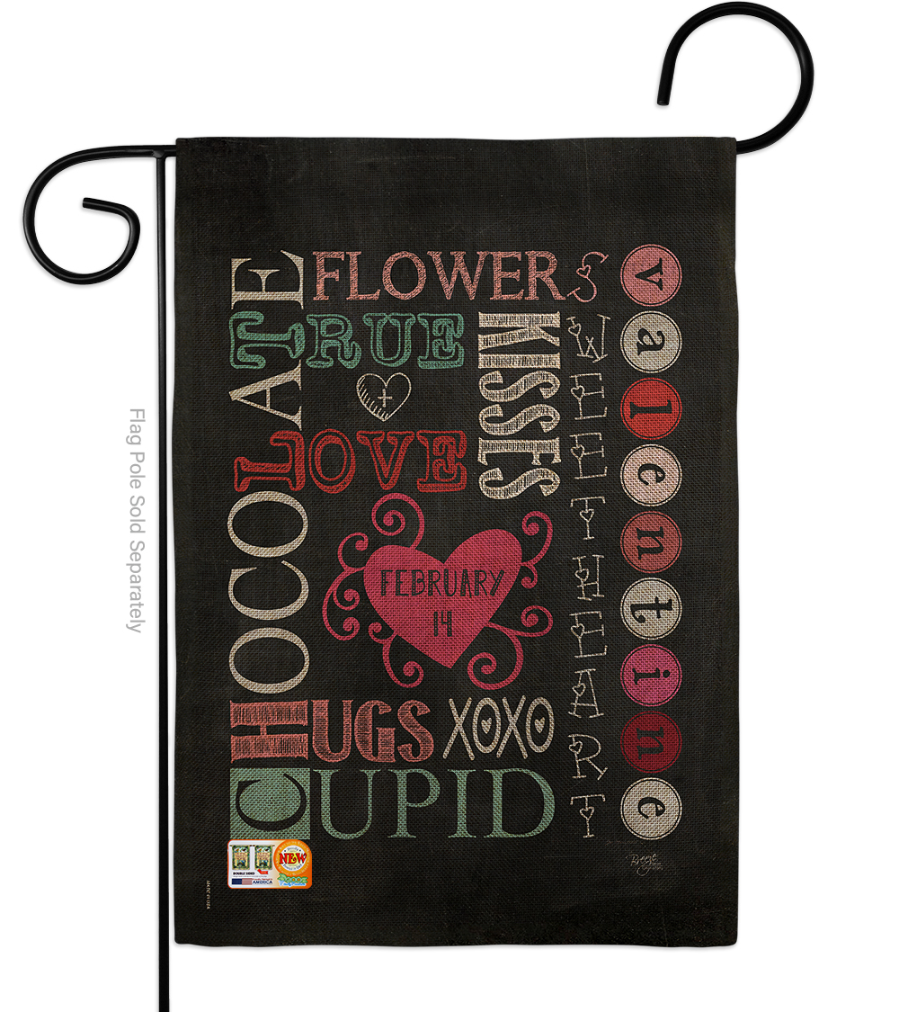 Primary image for Valentine's Subway Burlap - Impressions Decorative Garden Flag G151058-DB