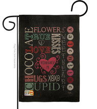 Valentine's Subway Burlap - Impressions Decorative Garden Flag G151058-DB - $22.97