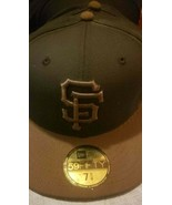 San Francisco SF Giants hat New Era 59fifty baseball cap 2 Sizes Black B... - $34.99