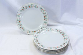 "China Pearl Noel Dinner Plates 10.5"" Lot of 5 Black Back Stamp - $48.99"