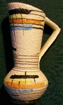 Bay West German Ewer 1950's Multi-Color Abstract Design Bodo Mans - $25.00