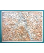"""1905 MAP Baedeker - AUSTRIA Salzburg & Environs 6 x 8"""" (15 x 20 cm) - $6.08"""