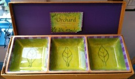 Department 56 Jane Davies Orchard Divided Dish Serving Plate Purple Gree... - $39.59