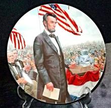 Gettysburg Address Commemorative Plate by M. Kunstler Plate Hanger ( Kno... - $59.95