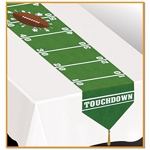 "Pack of 12 Plastic Printed Game Day Football Table Runner 11"" x 6'"