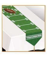 "Pack of 12 Plastic Printed Game Day Football Table Runner 11"" x 6' - $58.40"