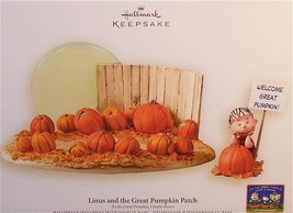 Hallmark 2006 Halloween NIB Linus and the Great Pumpkin Patch Ornament & Display - $52.95