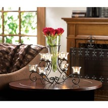 Scrollwork Candle Stand with Centerpiece Vase - $32.95