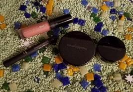 LOT OF BareMinerals Blush Earth Rose+Marvelous Moxie Lip Gloss+EyeColor+Eyeliner - $26.73