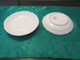 Vintage Homer Laughlin Restaurant Ware Two Saucers With Scalloped Edge - $9.99