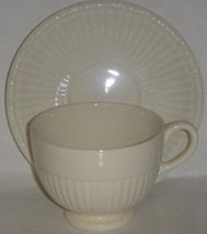 """Wedgwood """"EDME"""" Footed Coffee / Tea Cup & Saucer Set of Four (4) - $12.98"""
