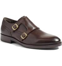 Handmade Men's Dark Brown Monk Strap Dress/Formal Leather Shoes image 4