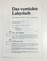 Das Verruckte Labyrinth Ravensburger German Game Instruction Sheet Direc... - $12.59