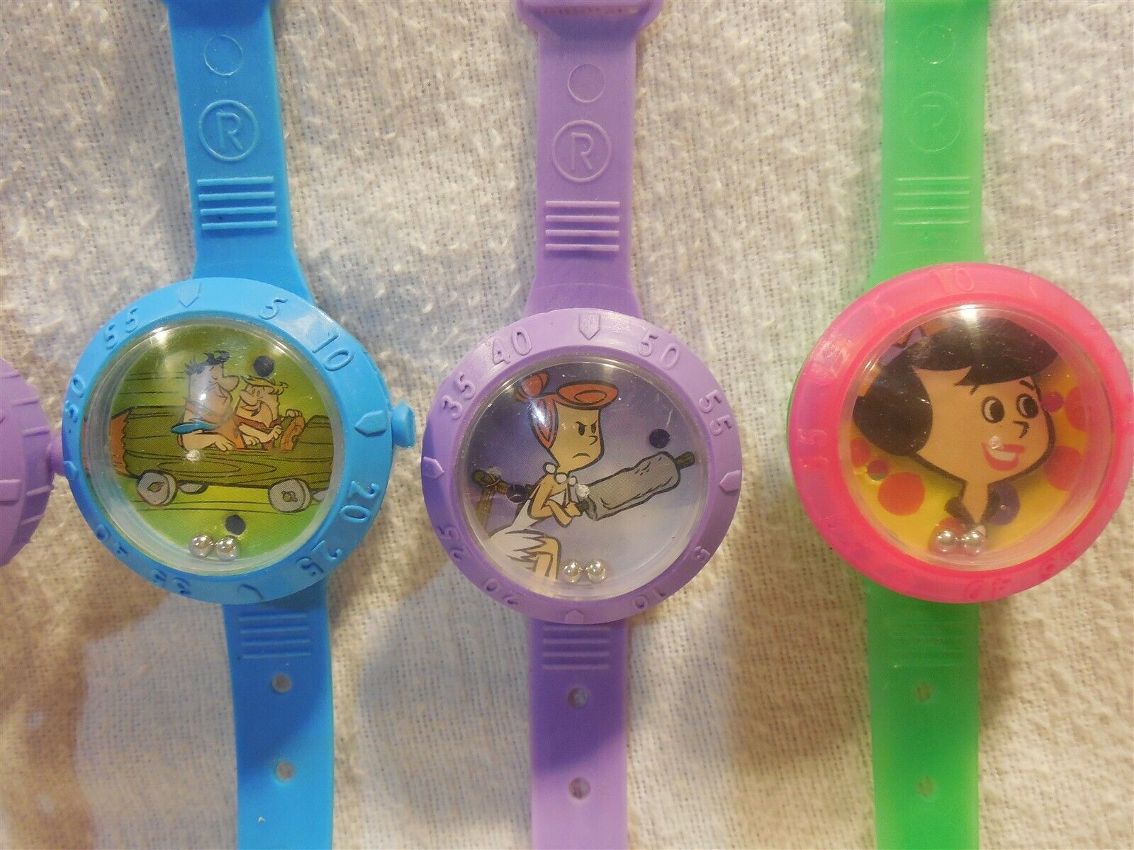 Flintstones Set of 5 Watch Candy Containers w/Dexterity Game Character Faces