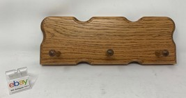 Amish Crafted Key Holder, Wall Mounted, Solid Oak Wood with Medium Stain... - $29.99