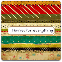 Hand-cut 'Thanks for Everything' card 15cm x 15cm with envelope. Thank y... - $3.45