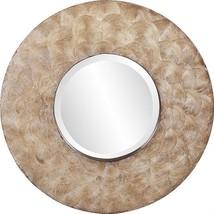 HOWARD ELLIOTT MERIDA Wall Mirror Round Swirled Texture - $489.00