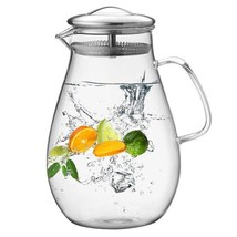 Hiware 64 Ounces Glass Pitcher with Stainless Steel Lid, Water Carafe wi... - $27.80