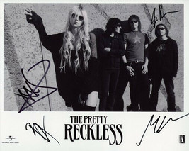 The Pretty Reckless Full Band Signed Photo 8X10 Rp Autographed Taylor Momsen - $19.99