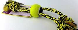 """Multipet Nuts for Knots 15"""" 3 Knot Rope Tugs with Tennis Ball (Yellow) - $12.27"""