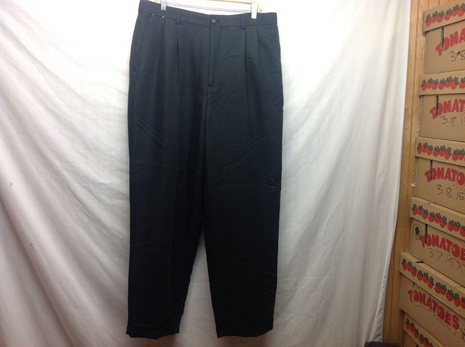 Crazy Horse Men's Cuffed Black Pants Sz 36/32
