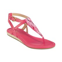 COLE HAAN Grove Pink Snake Leather Thong Sandals  9.5 B New - $38.51