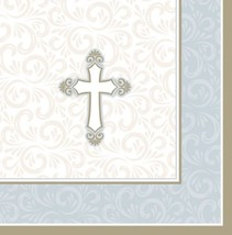 "Gold Cross Luncheon Napkins (16pcs) 13""x 13"" Co... - $4.15"