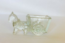 Vintage depression glass, pressed glass donkey. LE Smith candy jar, Anti... - $12.20