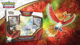 Shining Legends Premium Powers Collection Box Ho-Oh Pokemon TCG 8 Booster Packs - $54.99