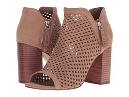 Guess Oana Perforated Leather V-Throat Peep-Toe Booties, Multiple Sizes ... - $99.95
