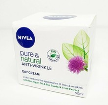 NIVEA Pure & Natural Anti-Wrinkle Day Cream w Bio Argan Oil 50 ml - $17.99