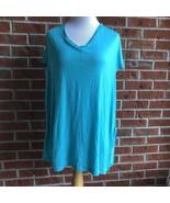 Venus Bathing Suit Cover Up Side Split Dress - One Size - Aqua - Size L - $10.77