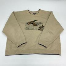 Croft & Barrow Sweatshirt Men's 2XL XXL Long Sleeve Tan Crew Neck Mallar... - $18.95
