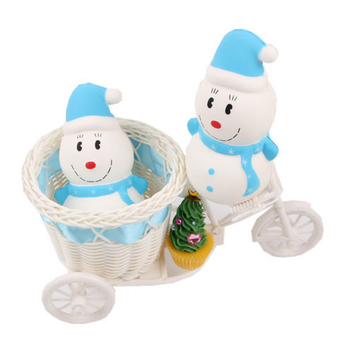 Christmas Snowman Slow Rising Squishies Squeeze Simulation Kids Funny Toys gift - $2.56