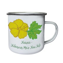 Hawaii Hibiscus Ma O Hau Hele Retro,Tin, Enamel 10oz Mug j951e - $13.13