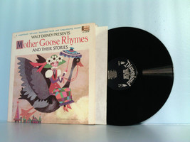 DISNEY~DISNEYLAND MOTHER GOOSE RHYMES LP RECORD ALBUM & STORY BOOK 1969 ... - £31.60 GBP