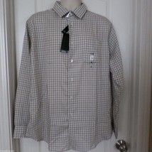 Van Heusen Plaid Dobby Casual Button-Down Shirt  Men Sz L 16-16 1/2 NWT ... - $20.88