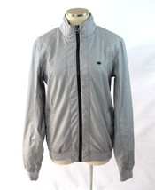 Mens PULL & BEAR Soft Cement Faux Leather Moto Zip Cafe Racer Biker Jack... - $29.69