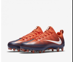 Nike Vapor Untouchable Pro Orange Navy Mens Football Cleats Soccer 83992... - $41.07