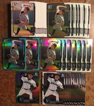(77) ANDREW MOORE Investment Lot 2015 Bowman Chrome (11) Refractors (9) ... - $13.99