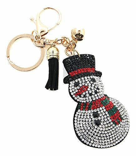 scarlettsbags Pave Crystal Snowman Print Handbag Purse Charm Jewelry Pillow Key