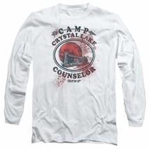 Friday the 13th Jason Camp Crystal Lake Counselor Horror Long Sleeve Tee WBM638 image 1