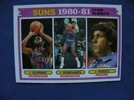 1981/82 Topps Suns 1980-81 Team Leaders Robinson & Adams #60 - $12.00