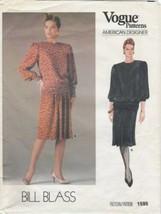 Vogue Designer Pattern 1595 Bill Blass 1985 Top Skirt Size 14 UNCUT - $9.99