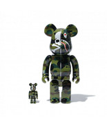 mastermind VS BAPE BE@RBRICK 100% & 400% GREEN Medicom Toy A BATHING APE SHARK - $1,976.03